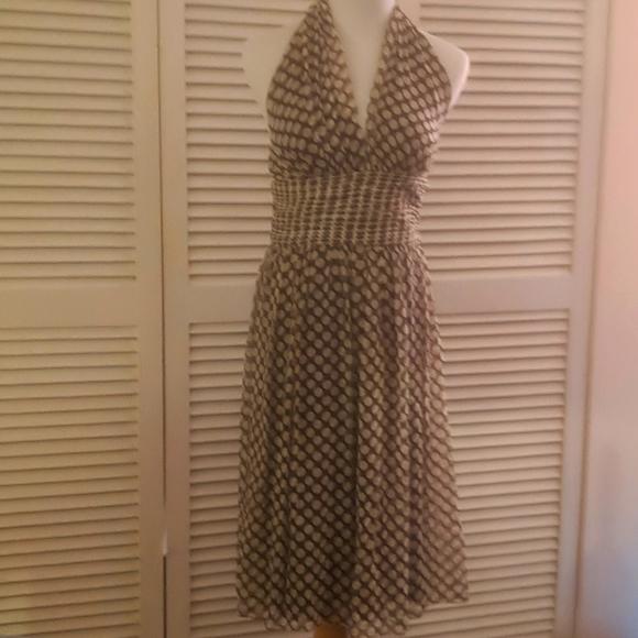 Maggy London NWOT classy polka dot dress